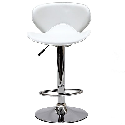 Modway Booster Leather Bar Stool, White