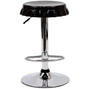Modway Soda Fiberglass Bar Stool, Black