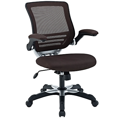 Modway Edge Mesh Executive Office Chair, Adjustable Arms, Brown (848387009656)