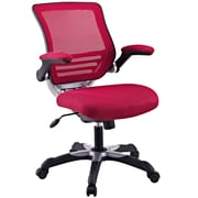 Modway Edge Mesh Executive Office Chair, Adjustable Arms, Burgundy (848387003104)