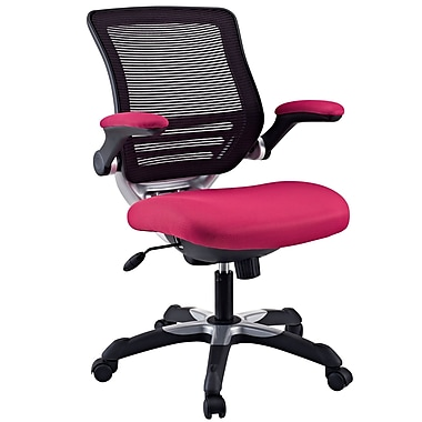 Modway Edge Mesh Executive Office Chair, Adjustable Arms, Red (848387003128)
