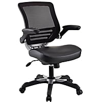 Modway Edge Mesh Back & Black Vinyl Seat Office Chair