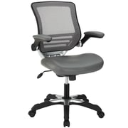 Modway Edge Leather Executive Office Chair, Adjustable Arms, Gray (848387008086)