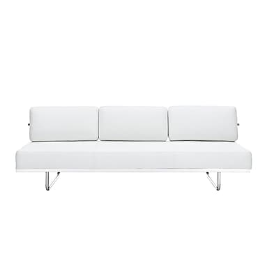 Modway Le Corbusier LC5 Leather Sofa, White