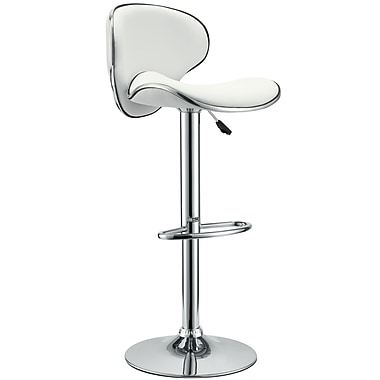 Modway Saddleback Vinyl Bar Stool, White
