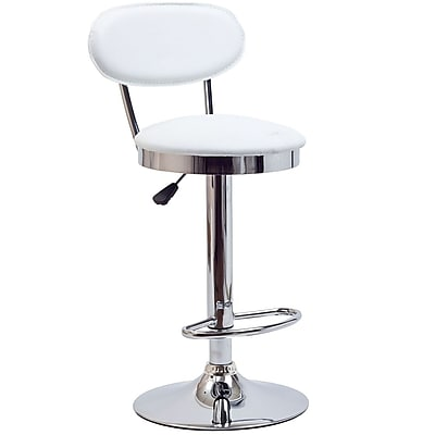 Modway Retro Vinyl Bar Stool, White