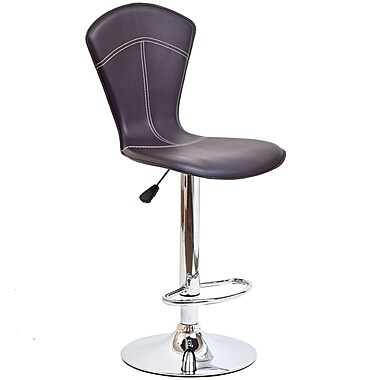 Modway Cobra Vinyl Bar Stool, Brown