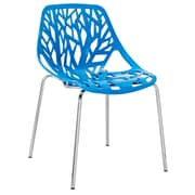 """Modway Stencil 31""""H Plastic Dining Side Chair, Blue"""