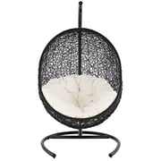 Modway Fabric Patio Lounge Chair, Espresso White (EEI-739)