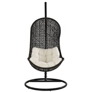 Modway Parlay Fabric Lounge Chair, Espresso/White