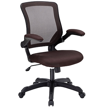 Modway Veer Mesh Executive Office Chair, Adjustable Arms, Brown (848387008420)