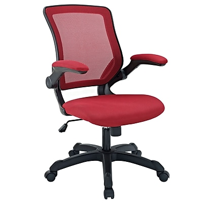 Modway Veer Mesh Executive Office Chair, Adjustable Arms, Red (848387015527)