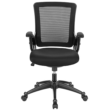 Modway Aspire Mesh Computer and Desk Office Chair, Adjustable Arms, Black (848387001728)