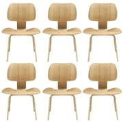 "Modway Fathom 6/Set 31 1/2""H Plywood Dining Chairs"