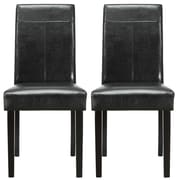 "Modway Compass 38 1/2""H Vinyl Dining Side Chair, Black, 2/Set"