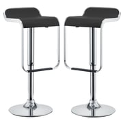 Modway LEM Bar Stool, Black, 2/Set