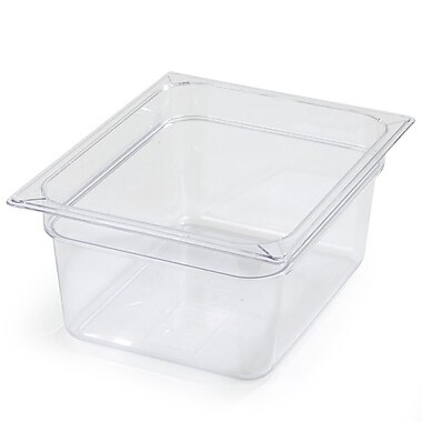 Carlisle 10222B07, One-Half Size PC Food Pans - 6'' (8.7 qt), Clear