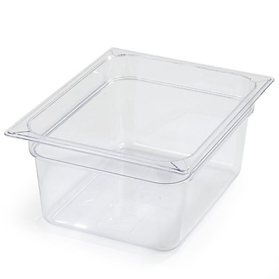 Carlisle 10222B07, One-Half Size PC Food Pans - 6'' (8.7 qt), Clear