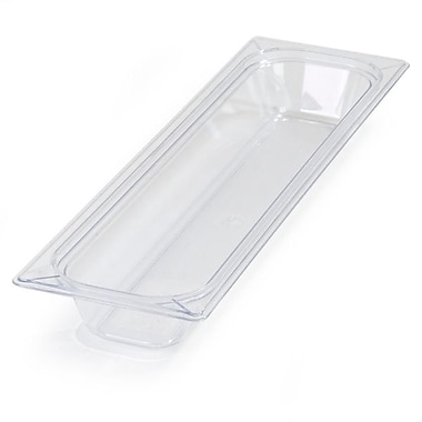 Carlisle 10240B07, One-Half Long PC Food Pans - 2.5'' (2.9 qt), Clear