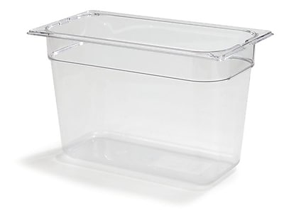 Carlisle 1026907, One-Third Size PC Food Pans - 8'' (7.3 qt), Clear