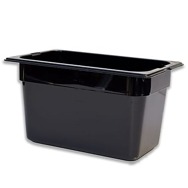 Carlisle 1028203, One-Quarter Size PC Food Pans - 6'' (4.0 qt), Black