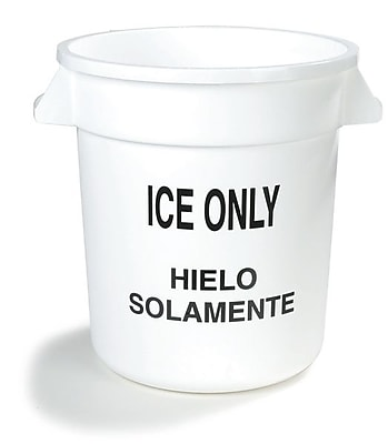Carlisle 341010ICE02, 10 Gal Ice Only Container, White