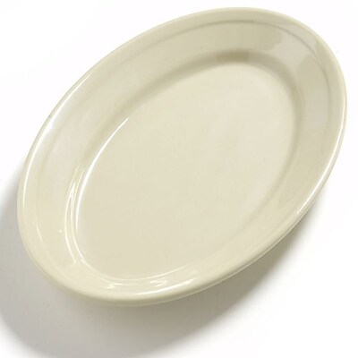 Carlisle Dayton 9.25'' x 6.25'' Oval Platter, Oatmeal