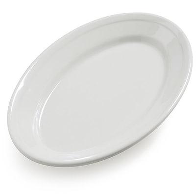 Carlisle Dayton 9.25'' x 6.25'' Oval Platter, Bavarian Cream