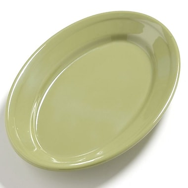 Carlisle Dayton 9.25'' x 6.25'' Oval Platter, Wasabi