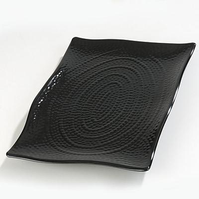 Carlisle 18'' x 12.5'' Rectangular Textured Platter, Black