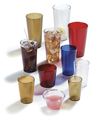 Carlisle 523210, 32 oz Tall SAN Stackable Tumbler, Ruby