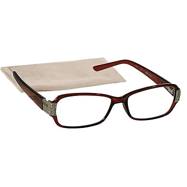 Peeperspecs® Sunday Best Brown/Silver Reading Glasses