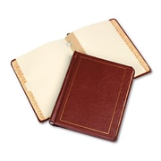 Wilson Jones Faux-Leather 2-Inch Post-Style Minute Book, Red