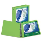 Samsill Clean Touch™ 3 Ring View Binder Protected by Antimicrobial Additive, 1 Inch Round Rings, Lime Green (SAM17235)