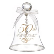 "HBH™ ""50th Anniversary"" Glass Bell With Faceted Crystal Handle, Clear"
