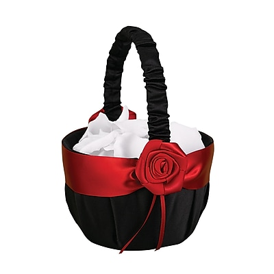 HBH™ Midnight Rose Basket, Black/Red