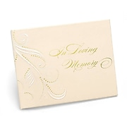 "HBH™ ""In Loving Memory"" Swirl Dots Guest Book, Ivory"
