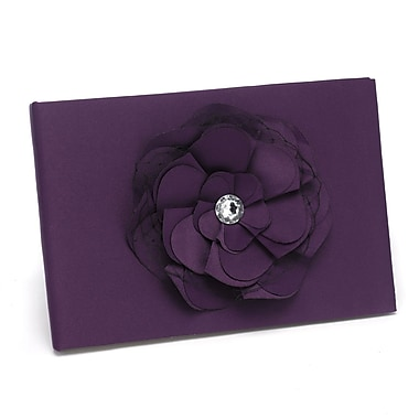 HBH™ Floral Fantasy Eggplant Guest Book, Eggplant