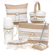 HBH™ 6-Piece Rustic Romance Collection Set, Natural Burlap/White