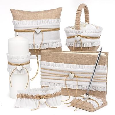 HBH™ 6-Piece Rustic Romance Collection Set, Natural Burlap/White