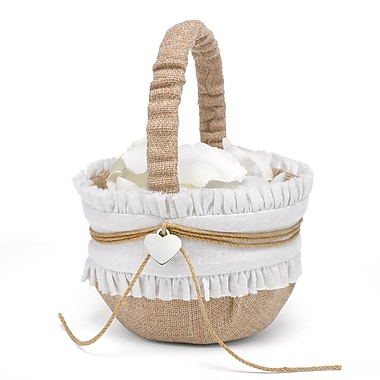 HBH™ Rustic Romance Basket, Natural/White