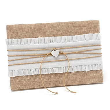 HBH™ Rustic Romance Guest Book, Natural and White