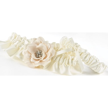 HBH™ Love Blooms Garter Set With Bow, Ivory
