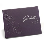 HBH™ Guest Book, Purple Swirl Dots