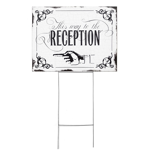 HBH™ Vintage This Way to Reception Yard Sign