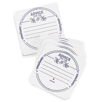 HBH™ Advice for the Mr & Mrs Coasters, White