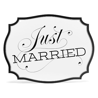 HBH™ Just Married Car Sign, White