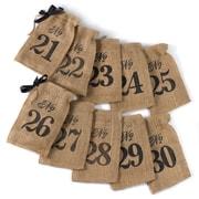 HBH™ 21-30 Burlap Table Number Wine Bags, Brown