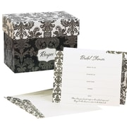 "HBH™ 6 1/8"" X 3 1/2"" X 4 5/8"" Damask Recipe Box Gift Set"