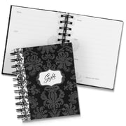 HBH™ Damask Gift Record Book, Black and White